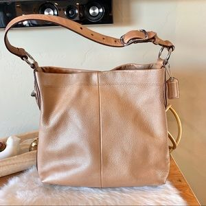Coach RARE rose gold pebbled leather hobo